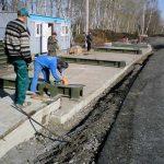 Фото монтажа колейных автомобильных весов, Спас-Клепики, Рязанская область